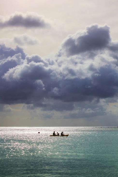 グアムの海 夕日